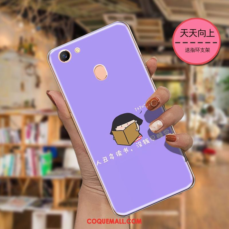 Étui Oppo F5 Youth Protection Art Fluide Doux, Coque Oppo F5 Youth Dessin Animé Silicone