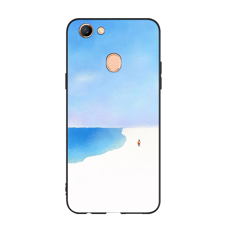 Étui Oppo F5 Youth Tout Compris Bleu Ornements Suspendus, Coque Oppo F5 Youth Incassable Silicone