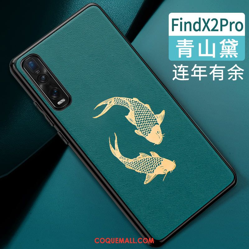 Étui Oppo Find X2 Pro Tendance Style Chinois Protection, Coque Oppo Find X2 Pro Tout Compris Silicone