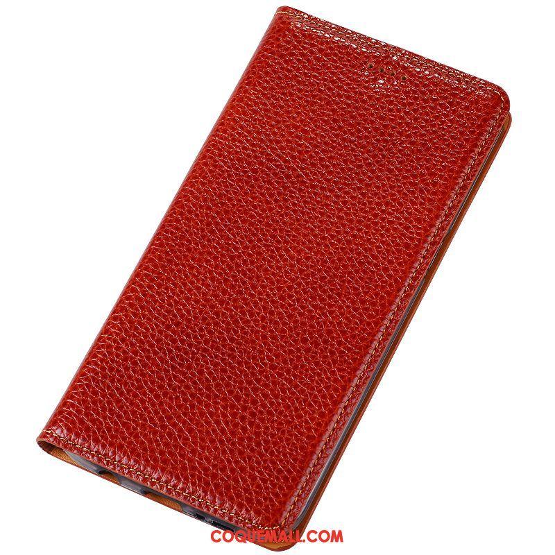 Étui Oppo R15 Pro Téléphone Portable Modèle Fleurie Litchi, Coque Oppo R15 Pro Rouge Protection