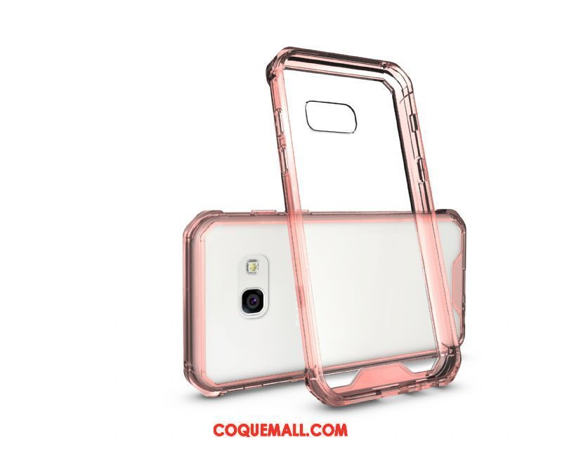 Étui Samsung Galaxy A3 2017 Rose Simple Transparent, Coque Samsung Galaxy A3 2017 Incassable Étoile