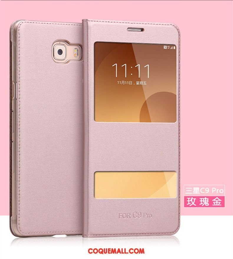 Étui Samsung Galaxy A5 2017 Incassable Étoile Étui En Cuir, Coque Samsung Galaxy A5 2017 Protection Or Rose