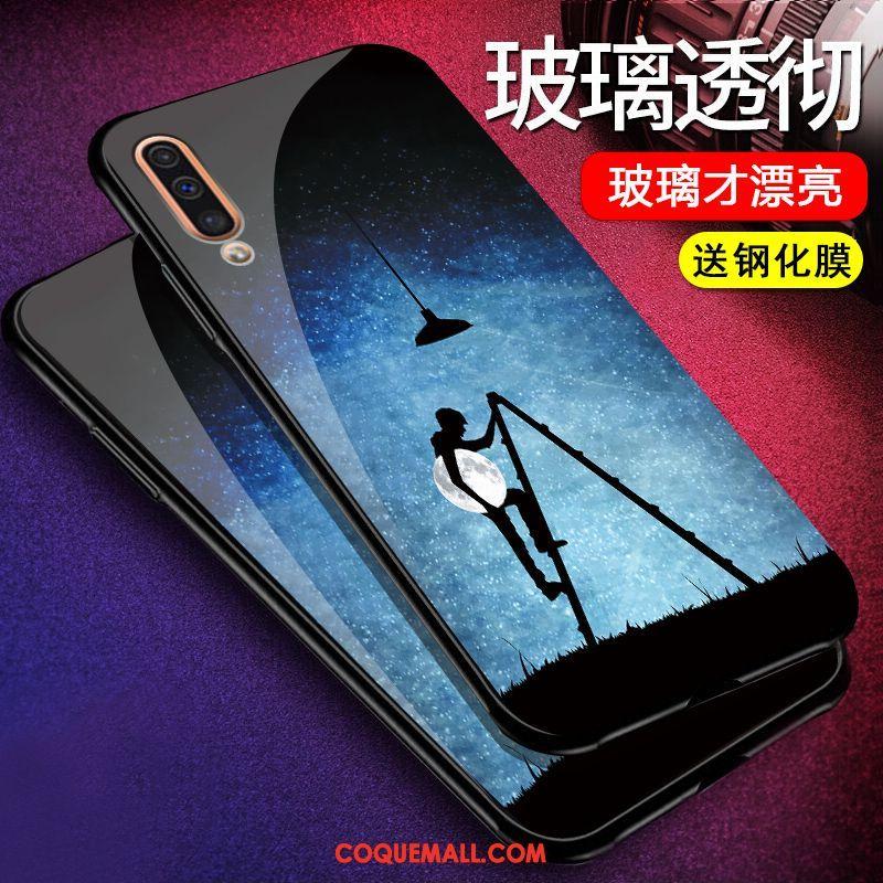 Étui Samsung Galaxy A50 Étoile Verre Téléphone Portable, Coque Samsung Galaxy A50 Incassable Créatif
