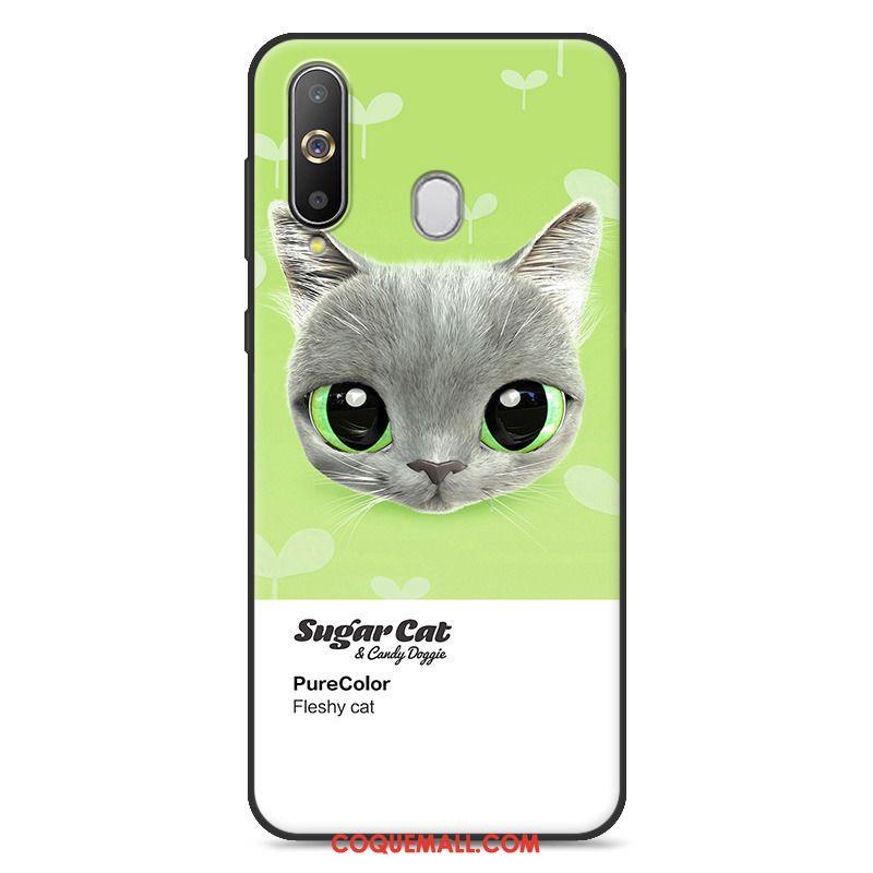 Étui Samsung Galaxy A60 Personnalité Vert Téléphone Portable, Coque Samsung Galaxy A60 Silicone Charmant