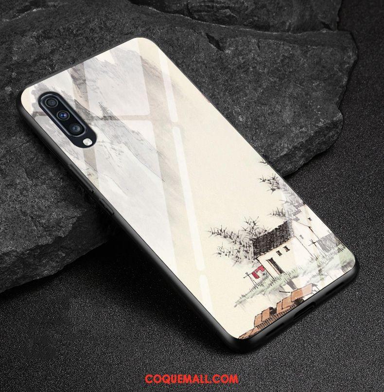 Étui Samsung Galaxy A70 Protection Tout Compris Blanc, Coque Samsung Galaxy A70 Étoile Incassable