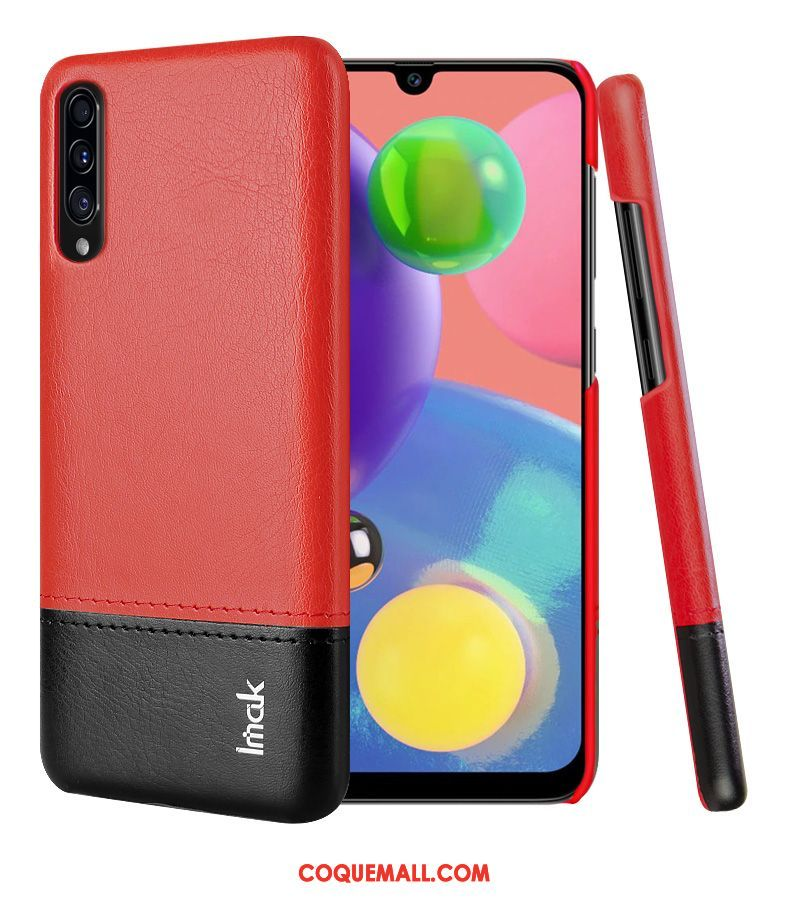 Étui Samsung Galaxy A70s Étoile Protection Similicuir, Coque Samsung Galaxy A70s Rouge Business