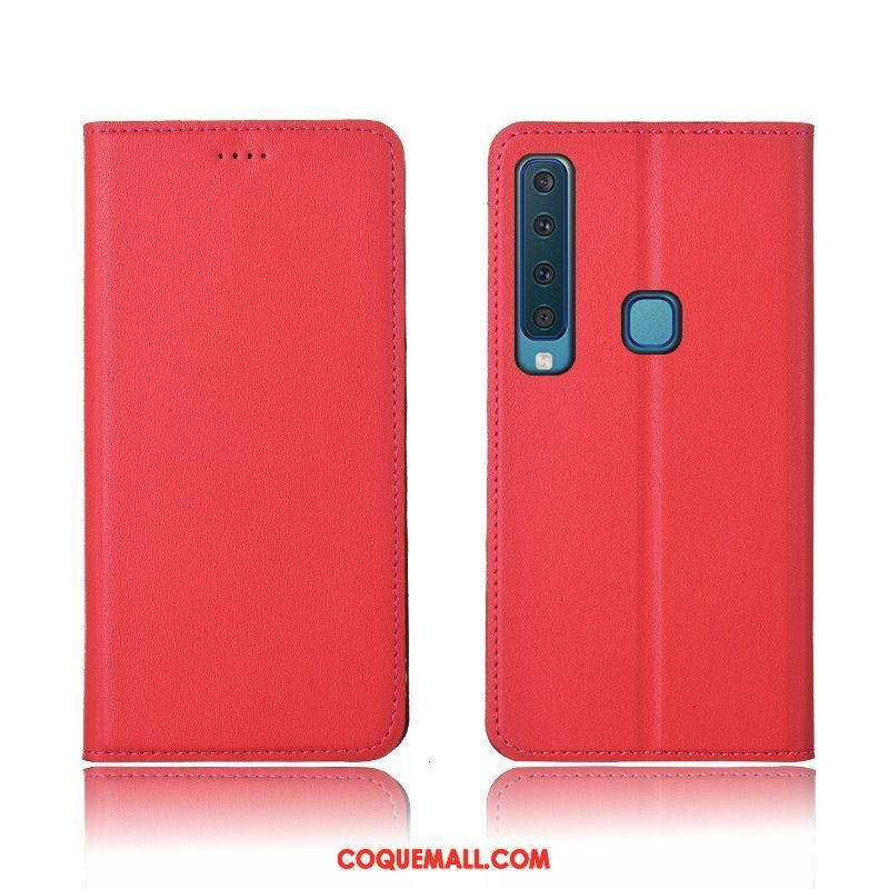 Étui Samsung Galaxy A9 2018 Silicone Protection Incassable, Coque Samsung Galaxy A9 2018 Nouveau Rouge
