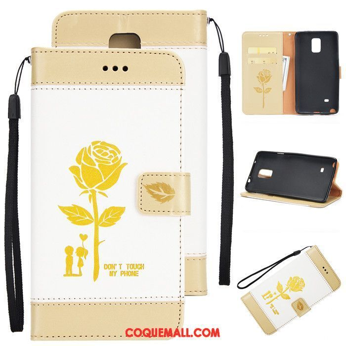 Étui Samsung Galaxy Note 4 Protection Or Tendance, Coque Samsung Galaxy Note 4 Clamshell Étoile