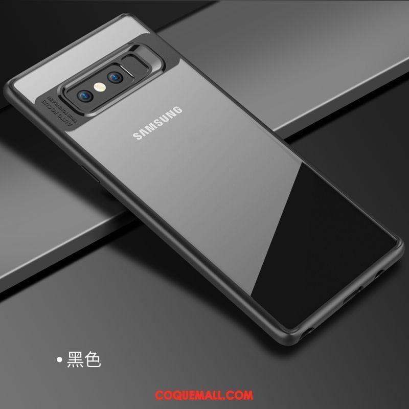 Étui Samsung Galaxy Note 8 Silicone Étoile Transparent, Coque Samsung Galaxy Note 8 Noir Très Mince