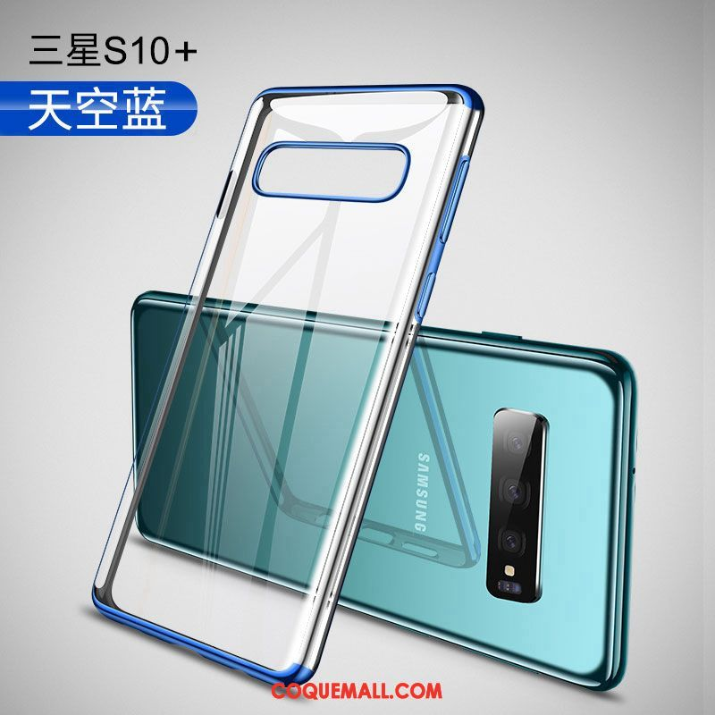 Étui Samsung Galaxy S10+ Incassable Téléphone Portable Luxe, Coque Samsung Galaxy S10+ Transparent Protection
