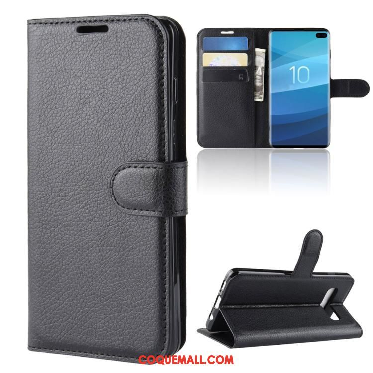 Étui Samsung Galaxy S10+ Protection En Cuir Étoile, Coque Samsung Galaxy S10+ Portefeuille Business