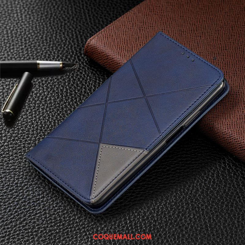 Étui Samsung Galaxy S20+ En Cuir Tout Compris Étoile, Coque Samsung Galaxy S20+ Bleu Téléphone Portable