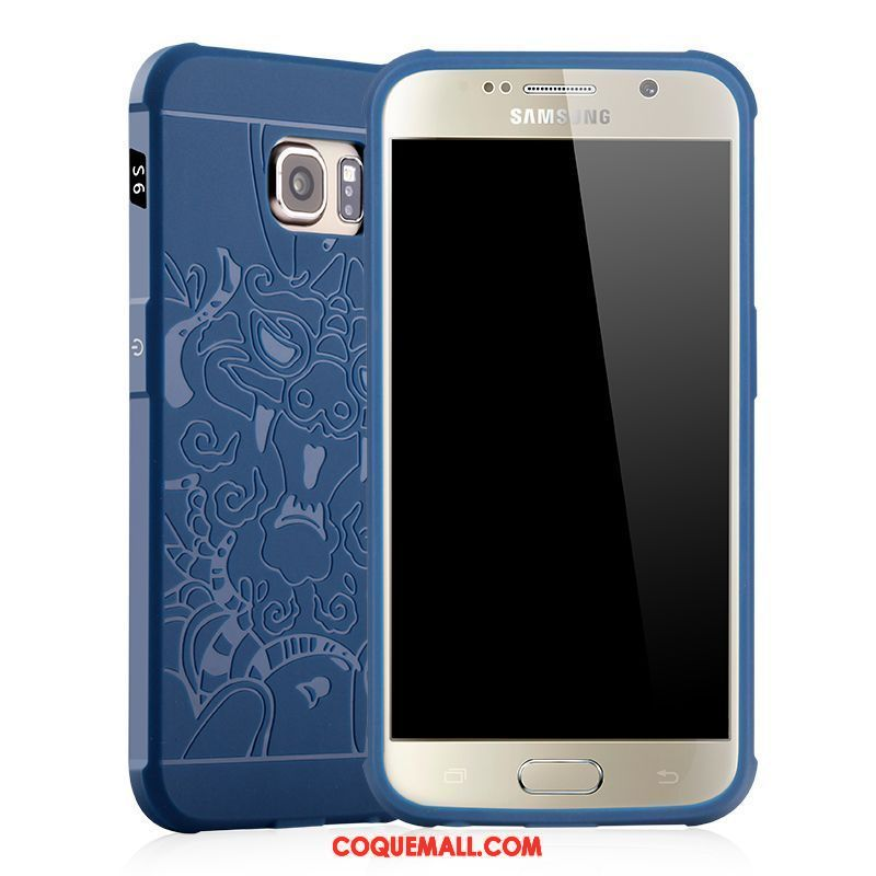 coque samsung galaxy s6 edge bleu