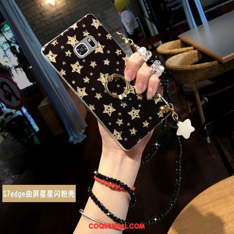 Étui Samsung Galaxy S7 Edge Étoile Téléphone Portable Nouveau, Coque Samsung Galaxy S7 Edge Support Anneau