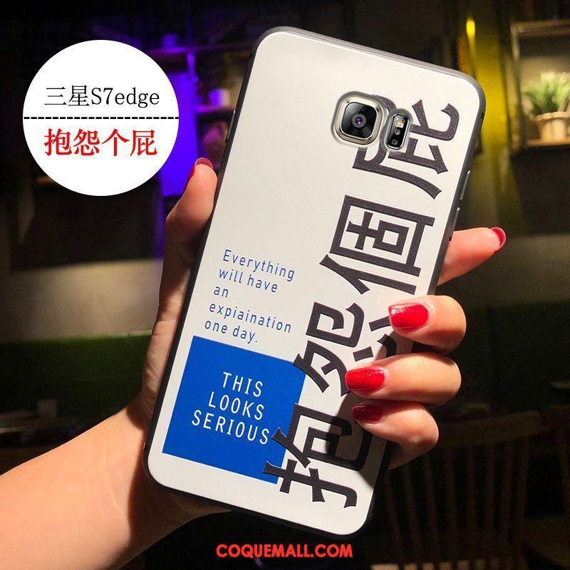 Étui Samsung Galaxy S7 Edge Blanc Marque De Tendance Étoile, Coque Samsung Galaxy S7 Edge Vent Fluide Doux