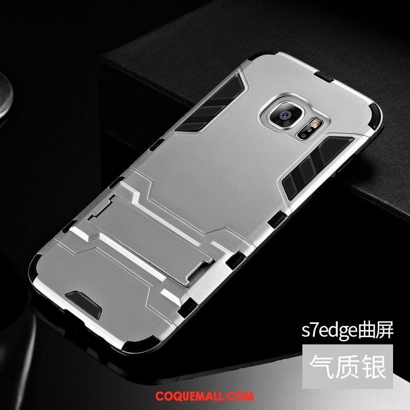 Étui Samsung Galaxy S7 Edge Incassable Fluide Doux Silicone, Coque Samsung Galaxy S7 Edge Protection Étoile