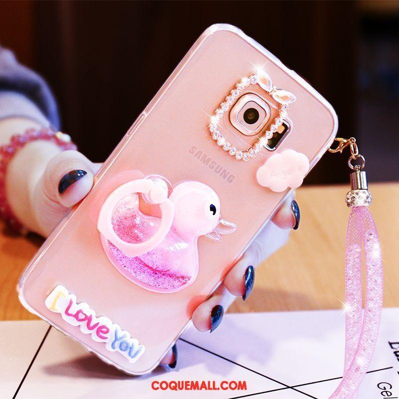 Étui Samsung Galaxy S7 Edge Rose Canard Étoile, Coque Samsung Galaxy S7 Edge Téléphone Portable Charmant