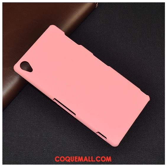 Étui Sony Xperia Z3+ Protection Téléphone Portable Difficile, Coque Sony Xperia Z3+ Rose Simple