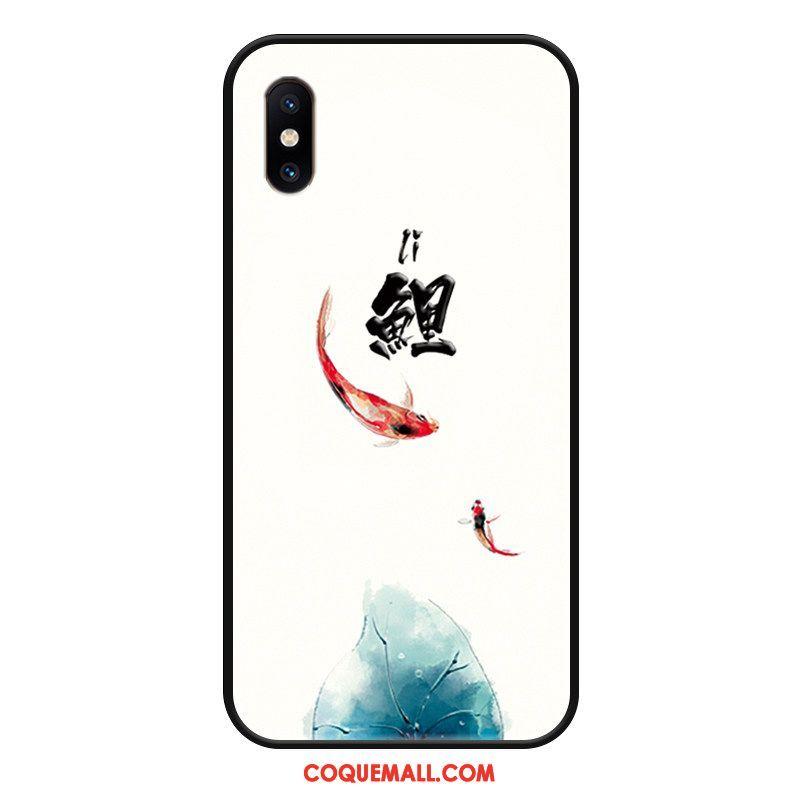 Étui Xiaomi Mi 8 Pro Blanc Mode Squid, Coque Xiaomi Mi 8 Pro Téléphone Portable Gaufrage Beige