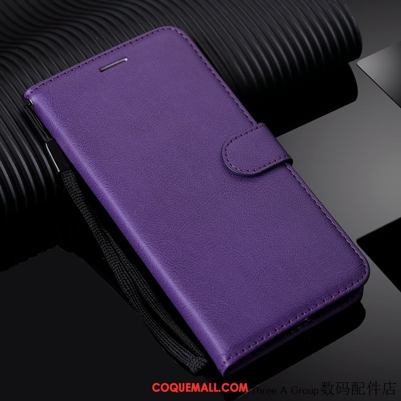 Étui Xiaomi Mi Mix 3 Protection Silicone Simple, Coque Xiaomi Mi Mix 3 Téléphone Portable Violet