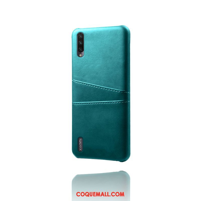 Étui Xiaomi Redmi Note 8t Vintage Business Incassable, Coque Xiaomi Redmi Note 8t Qualité Vert Beige