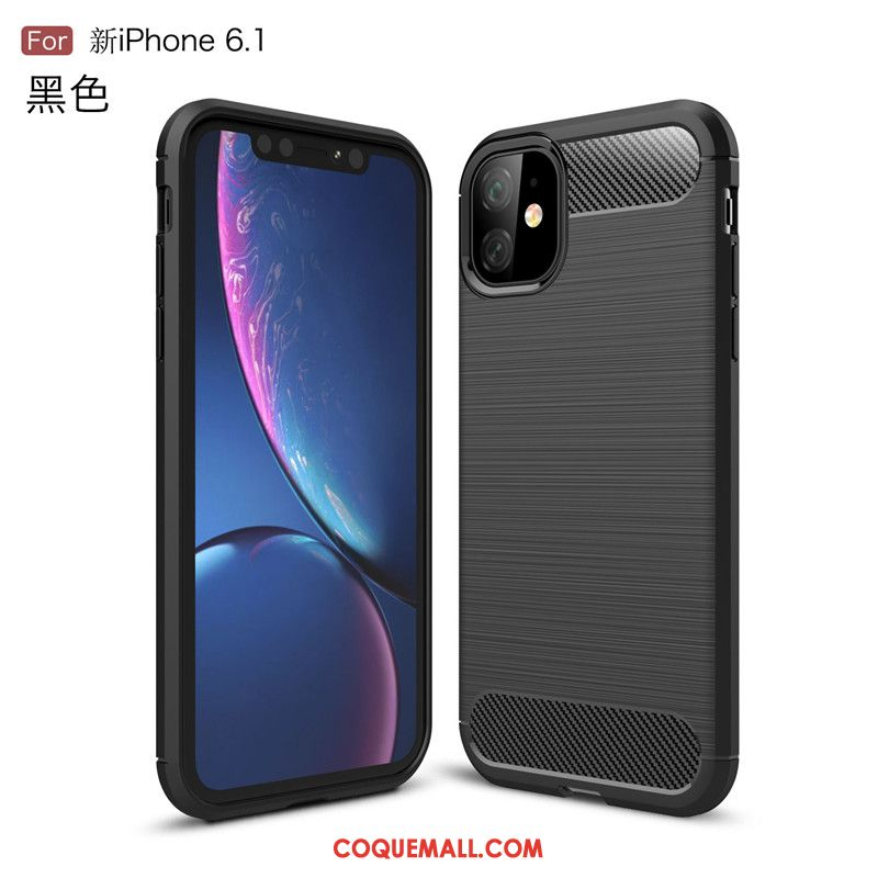 Étui iPhone 11 Fibre Téléphone Portable Antidérapant, Coque iPhone 11 Protection Business