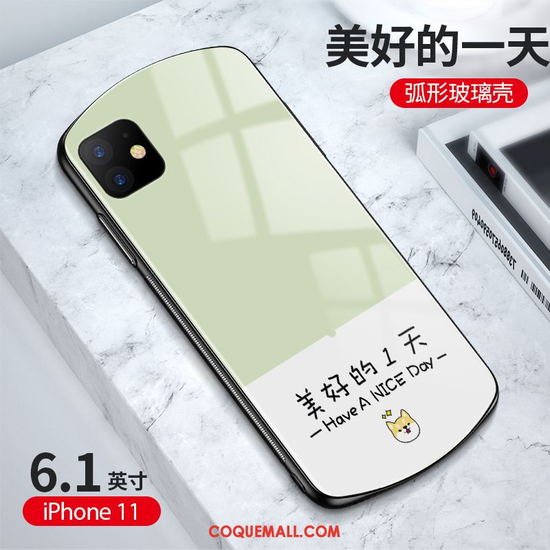 Étui iPhone 11 Incassable Rond Simple, Coque iPhone 11 Vert Protection