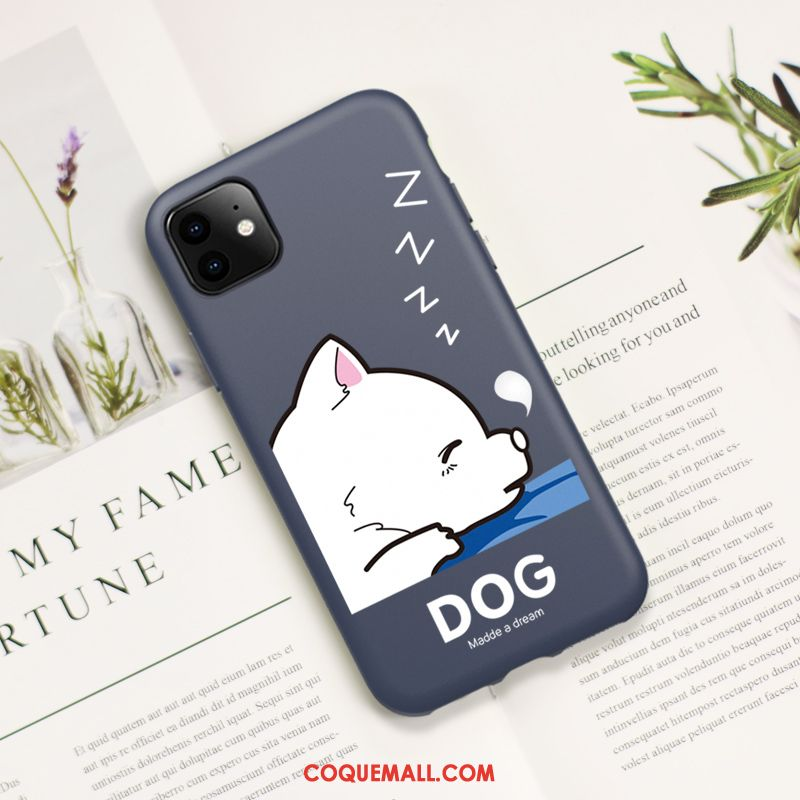 Étui iPhone 11 Mode Silicone Charmant, Coque iPhone 11 Chiens Protection