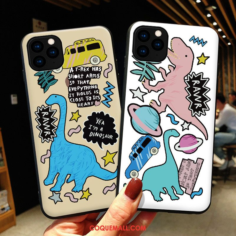 Étui iPhone 11 Pro Max Blanc Silicone Amoureux, Coque iPhone 11 Pro Max Protection Dragon