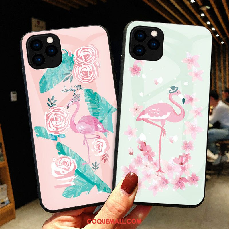 Étui iPhone 11 Pro Max Mode Luxe Simple, Coque iPhone 11 Pro Max Rose Tout Compris