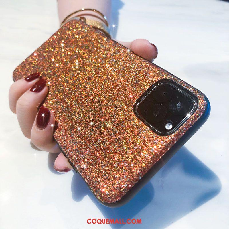 Étui iPhone 11 Pro Max Rose Or Téléphone Portable, Coque iPhone 11 Pro Max Protection Violet