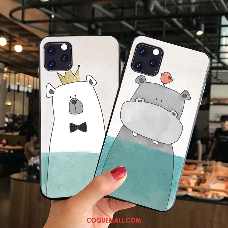 Étui iPhone 11 Pro Max Silicone Amoureux Protection, Coque iPhone 11 Pro Max Charmant Dessin Animé