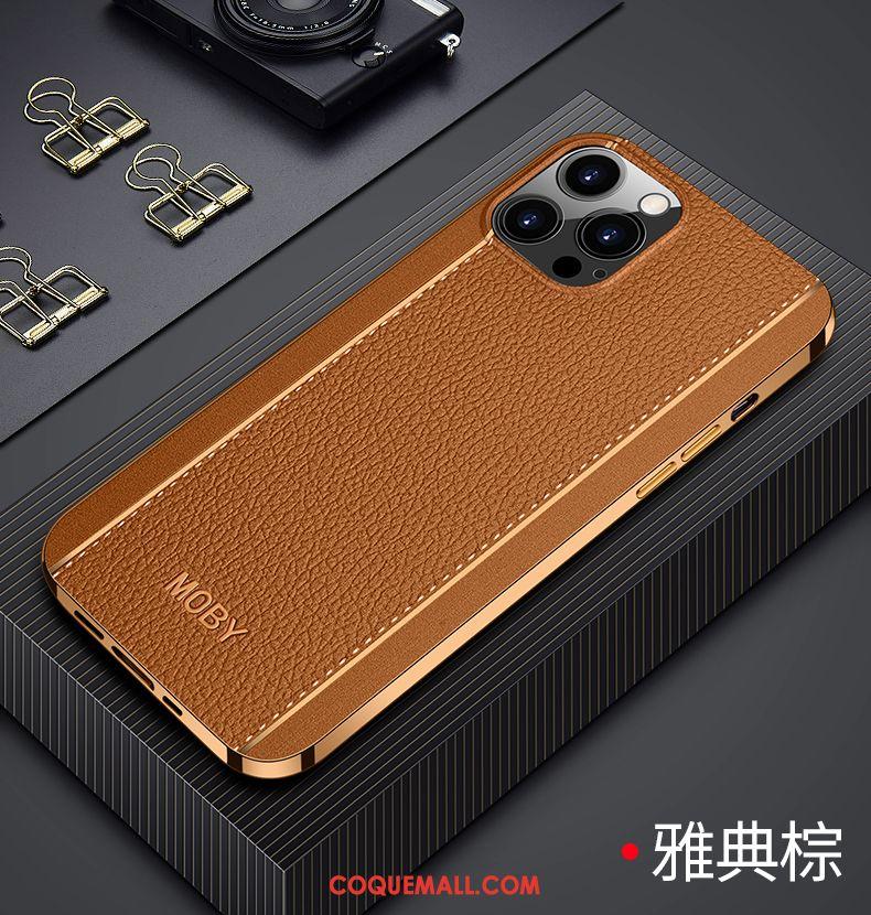 Étui iPhone 12 Pro Max Luxe Créatif Marque De Tendance, Coque iPhone 12 Pro Max Qualité Nouveau Braun