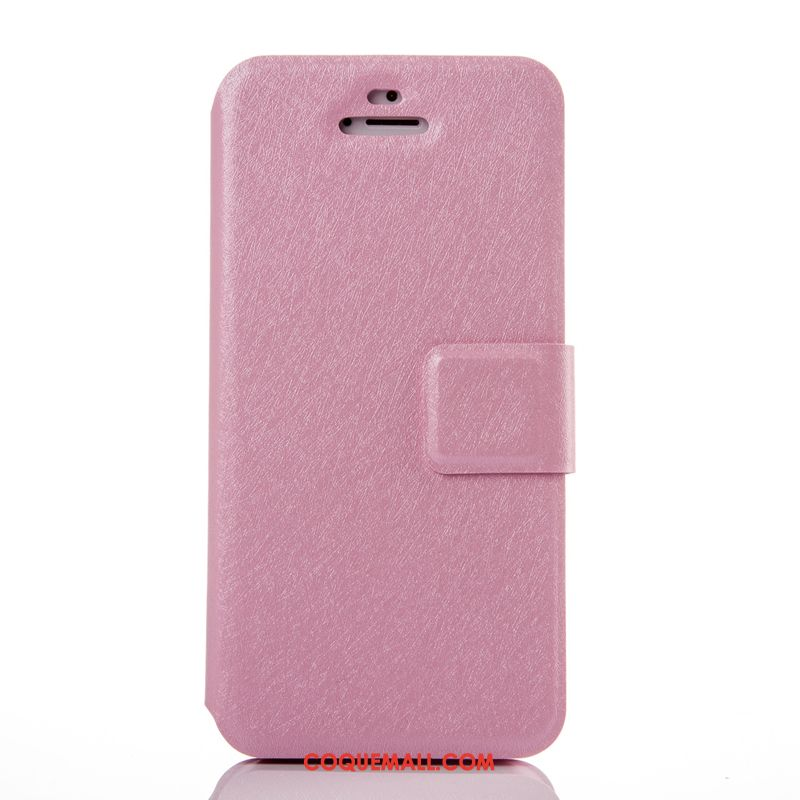 Étui iPhone 5 / 5s Clamshell Rose Argent, Coque iPhone 5 / 5s Très Mince Protection
