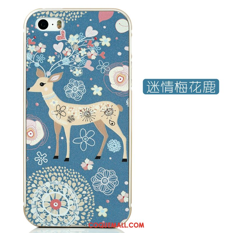 Étui iPhone 5 / 5s Dessin Animé Incassable Border, Coque iPhone 5 / 5s Gaufrage Charmant