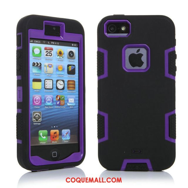 Étui iPhone 5 / 5s Outdoor Personnalité Incassable, Coque iPhone 5 / 5s Jupe Double Protection