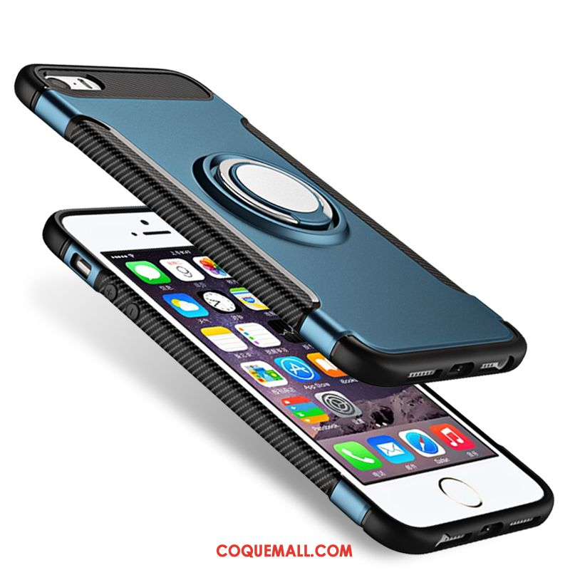 Étui iPhone 5 / 5s Support Bleu Protection, Coque iPhone 5 / 5s À Bord Fluide Doux