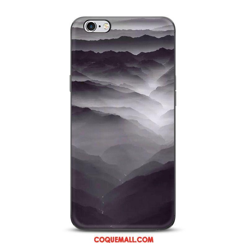 Étui iPhone 6 6s Plus Style Chinois Téléphone Portable Noir Coque iPhone 6 6s Plus Protection Encre 461