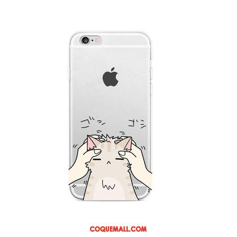 Étui iPhone 6 / 6s Plus Transparent Protection Incassable, Coque iPhone 6 / 6s Plus Dessin Animé Téléphone Portable Beige