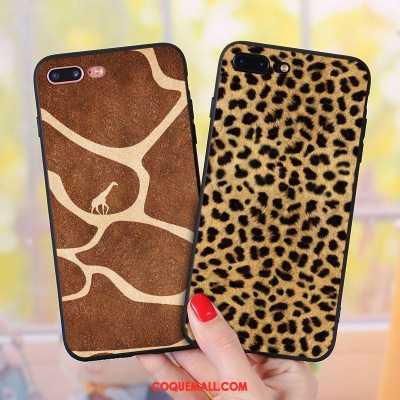 coque iphone 7 silicone leopard