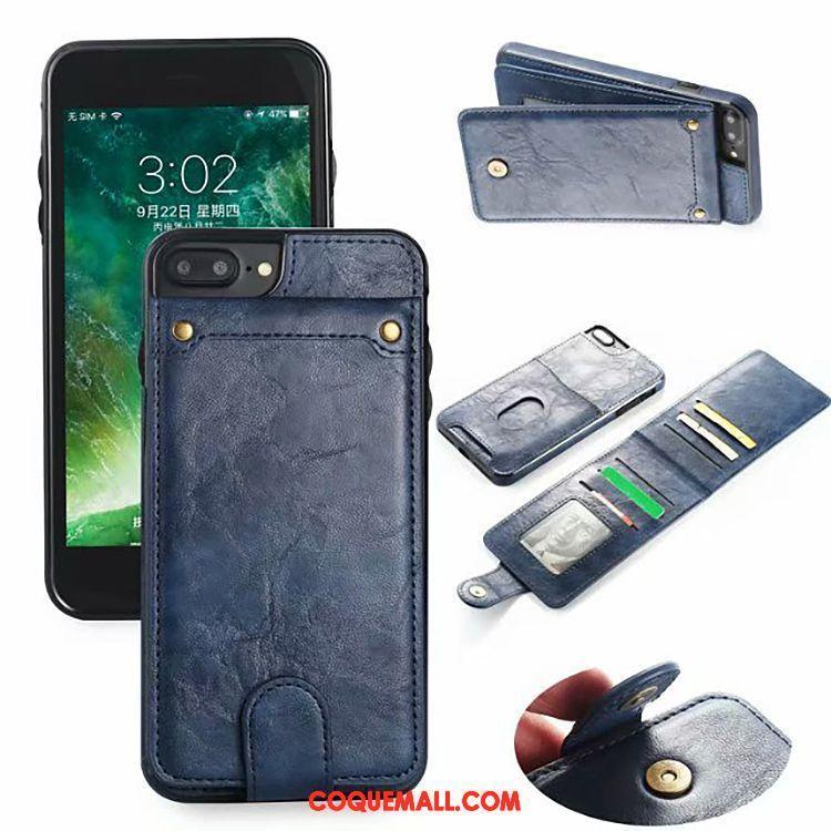 coque iphone 7 cuir bleu