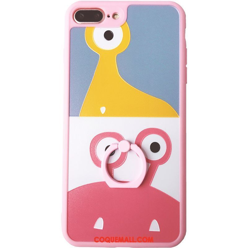 Étui iPhone 8 Plus Ornements Suspendus Cœur Charmant, Coque iPhone 8 Plus Dessin Animé Silicone