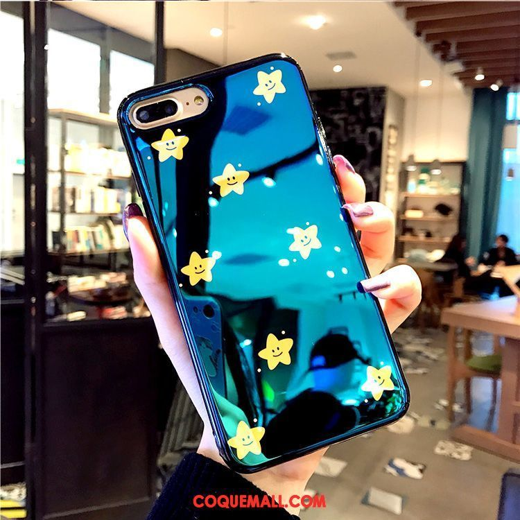 coque iphone 8 silicone bleu
