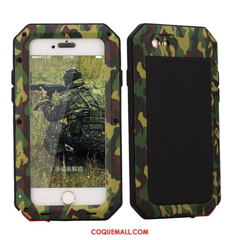 Étui iPhone Se Trois Défenses Camouflage Armure, Coque iPhone Se Incassable Protection