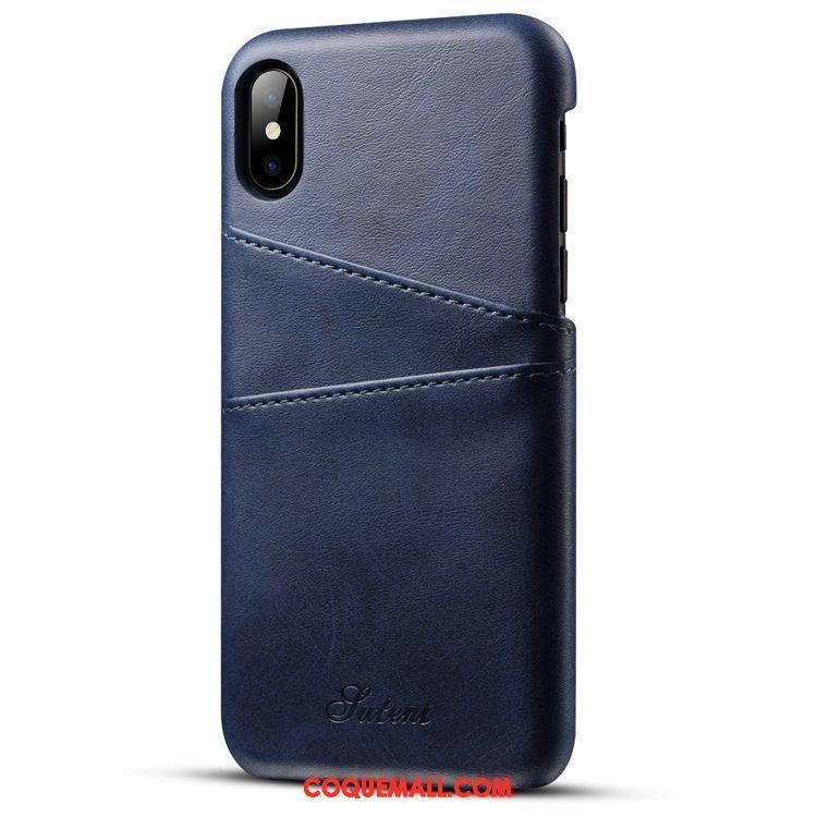 beauty buying cheap shop Étui iPhone X Incassable Protection Étui En Cuir, Coque iPhone X Carte Bleu