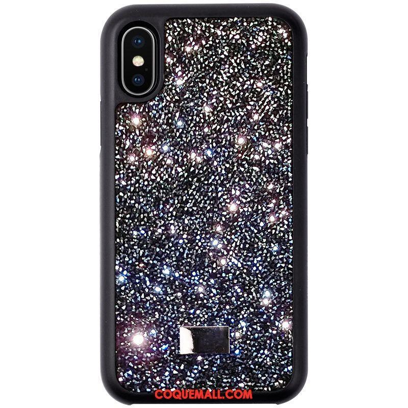 Étui iPhone X Net Rouge Incassable Silicone Coque iPhone X Marque De Tendance Téléphone Portable 1039