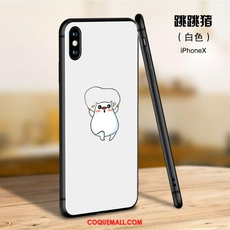 Étui iPhone X Téléphone Portable Marque De Tendance Nouveau Coque iPhone X Dessin Animé Incassable 1001