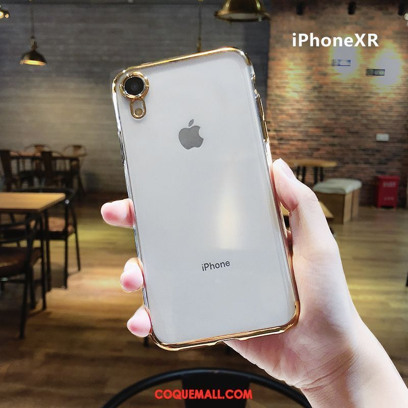 coque iphone xr silicone transparant