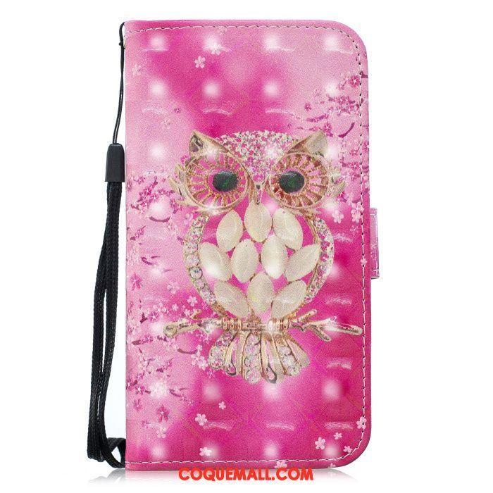 Étui iPhone Xr Rose Rouge Téléphone Portable, Coque iPhone Xr Chat Protection