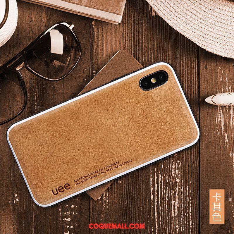Étui iPhone Xs Personnalité Tout Compris Nouveau, Coque iPhone Xs Kaki Incassable